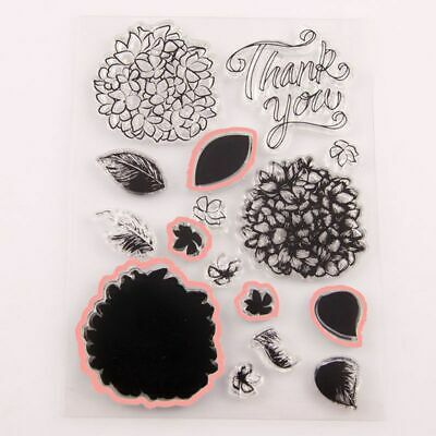 Flower Thank You Clear Stamp With Cutting Dies Stencil DIY Scrapbooking Cards