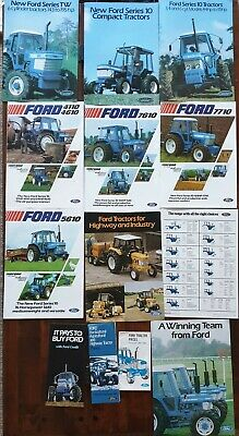 Ford Tractor Brochures 10 and TW series from the early 70s plus price lists
