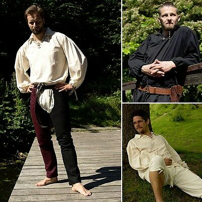 LARP Fencing Shirt - Cotton Fencing Shirt - Black Or White - Ideal For Events