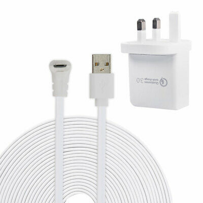 9M Micro USB Power Charging Cable for Arlo Pro/ Pro 2 + EU AC Adapter TH1277