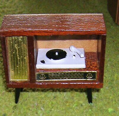 COLLECTION of VINTAGE DOLLS HOUSE FIREPLACE, CLOCK  TV RADIOGRAM etc  c 1960
