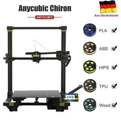 DE ANYCUBIC Chiron/Chiron900 3D Drucker Auto-Nivellierung Dual Z-Achse Ultrabase