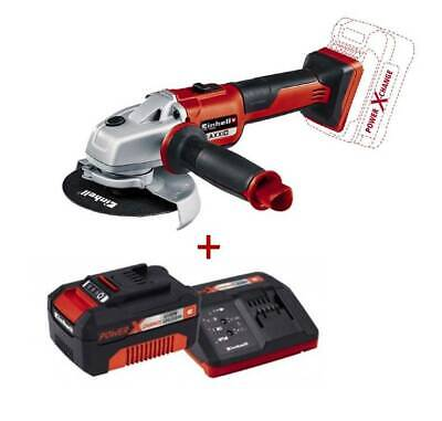 AMOLADORA BRUSHLESS TE-AG 18/125 Li BL + KIT STARTER CARGADOR Power-X 18V + BATE