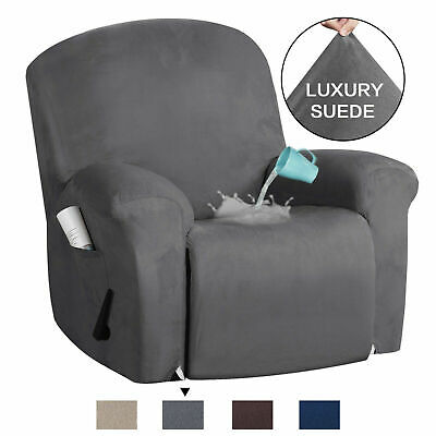 Suede Recliner Sofa Cover Non Slip Stretch Recliner Chair Slip Cover