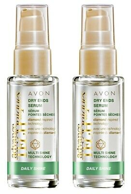 2 x Avon Advance Techniques Daily Shine Dry Ends Serum