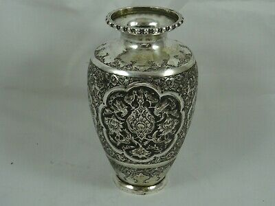 PERSIAN, solid  silver FLOWER VASE, c1940, 229gm
