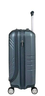 Skyway Luggage Cascadia Carry-On Blue Expandable Spinner Dual Wheel Suitcase NEW