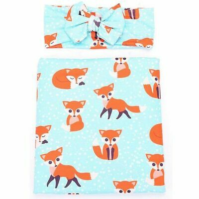 3X(Newborn Baby Swaddle Receiving Blankets with Hospital Headband Value Set I9C1