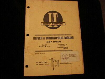 G1355 MINNEAPOLIS MOLINE Tractor Technical Service Shop ... on