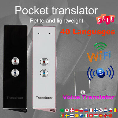WIFI Bluetooth Smart Voice Translator Instant Real Time Translation 40 Language
