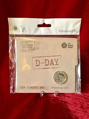 2019 D-Day 75th Longest Day £2 Coin BUNC Royal Mint Presentation Brand New