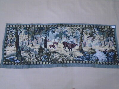15 -Old Tapestry Antique  Wall Hanging 20 Century  165 x 63 cm