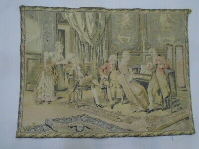 278 -Old Tapestry  Antique Wall Hanging 20 Century  79 x 60 cm