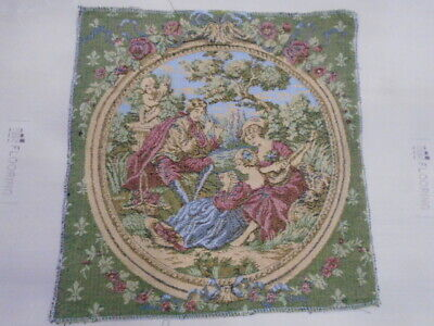 9204 -Old Tapestry  Antique Wall Hanging 20 Century  46 x 44 cm