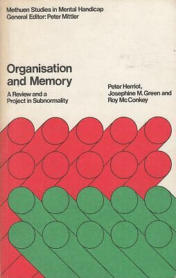 Organization and Memory: Review and a Project i... - Peter Herriot - Good - P...