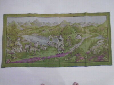 9695 -Old Tapestry  Antique Wall Hanging 20 Century 139  x 69 cm