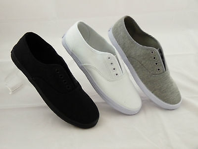 Raben Shoes Slip On Canvas With Laces Grey Black White size from Euro 35 to 47