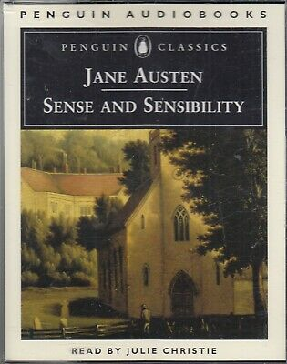 Sense and Sensibility Jane Austen 4 Cassette Audio Book Julie Christie FASTPOST