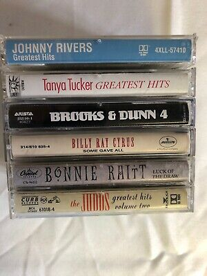 Country Music Cassette Tapes Lot - Brooks & Dunn, Tanya Tucker, The Judds