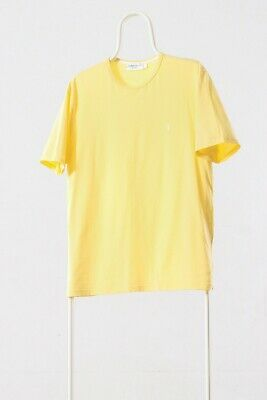 377c67484 90's Vintage Mens YVES SAINT LAURENT YSL Small Logo Yellow T Shirt Tee Size  M