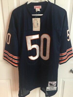 new style 69a7a db8f8 CHICAGO BEARS MITCHEL Trubisky 100th Anniversery White ...