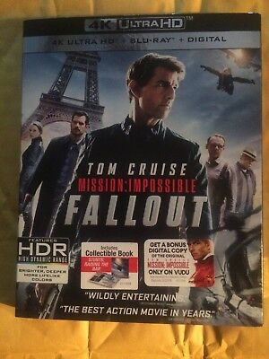 Mission Impossible Fallout 4K Ultra HD Blu Ray Slipcover Movie