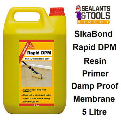 Sika SikaBond RAPID DPM Primer Cure Liquid Damp Proof Membrane Solvent Free