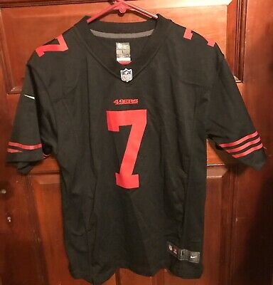 f27a5334bc4 Colin Kaepernick NFL On Field San Francisco 49ers Home Black Jersey Youth 14 -16