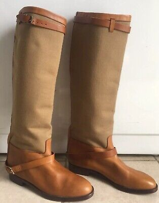 7d0de730015df RALPH LAUREN COLLECTION Leather Equestrian English Riding Boots 6.5B ...