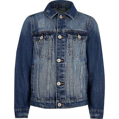 Baby Boys Denim Jacket Infants River Blue Distressed Kids Island