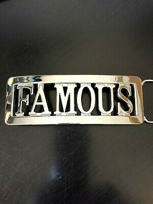 Famous Stars And Straps Belt Buckle Famous Spelled Out Travis Barker Since 1999