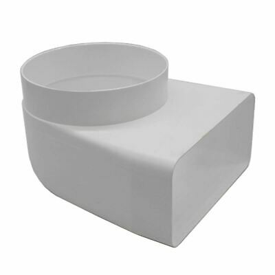 Rectangular Ducting 150mm X 70mm Female To 125mm Round Male 90 Degree Elbow Bend