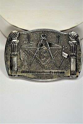 Freemason or Masonic Belt Belt Buckle Made by The Great American Buckle Co. 1981