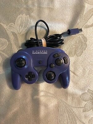 CUSTOM CLEAR BLACK Button Nintendo Gamecube Indigo Purple Controller