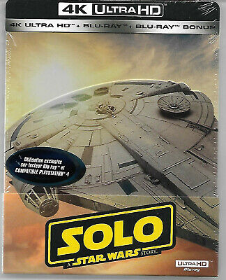 SOLO : A Star Wars Story / Blu-Ray Steelbook 4K Neuf sous blister - VF