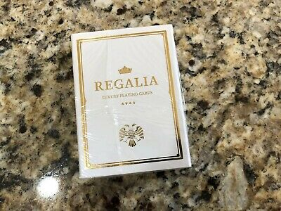Regalia White Playing Cards By Shin Lim NEW SEALED Deck