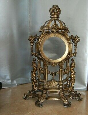 Mantel clock base  French in the style of Louis XIV antique brass Vintage