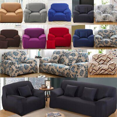 1/2/3/4 Sofa Couch Slipcover Stretch Cover Elastic Fabric Settee Protector Fit H