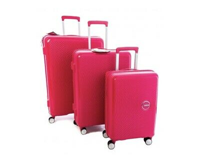 4d2b470be NIOB* AMERICAN TOURISTER Curio 3-Piece Hardside Luggage Set Pink ...