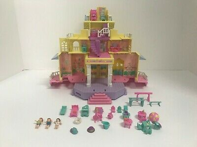 Vtg 1995 Polly Pocket Bluebird Pop-up Party Club House Mansion Almost Complete