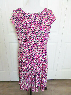 063fc1c0e50b Jessica Howard Size 14 Petite Women's Dress Pink Purple Print Short Slv