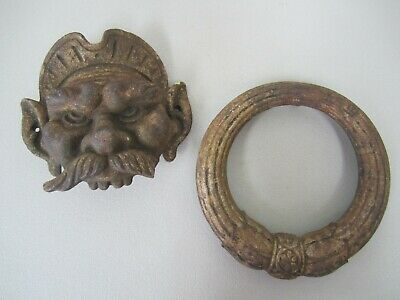 Vintage / Antique Goblin Cast Iron Door Knocker - Incomplete/Damaged
