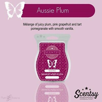 3 X AUSSIE PLUM SCENTSY BARS ~ Use With Wax Warmers ~ Wax Melts ~ Bundle ~