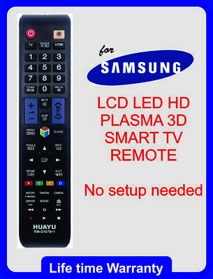 Samsung Universal TV Remote Control NO PROGRAMMING Smart 3D HDTV LED LCD TV