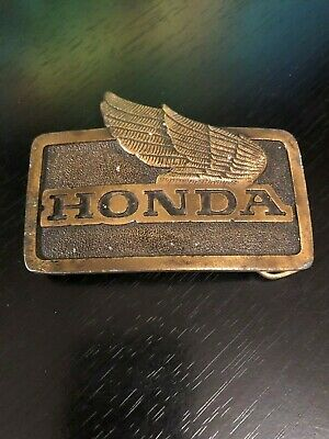Honda Motorcycle Wings Belt Buckle Vintage Indiana Metal Craft 1976