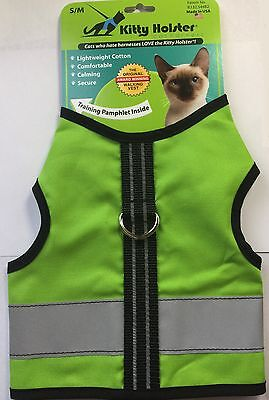 Kitty Holster Cat Reflective Safety Harness Loud Lime Choose Size