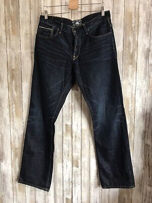 GILDED AGE Salvage Dark Blue Traditional Jeans Pants Cotton 34X34