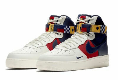 Nike Air Force One 1 High NAUTICAL REDUX PACK SAIL OFF WHITE RED BLUE AR5395-100