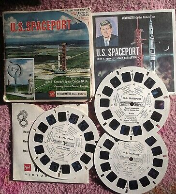 U.S. SPACEPORT ~ VIEW-MASTER REELS 3pk IN PACKET WITH BOOK.  EXTREMELY RARE