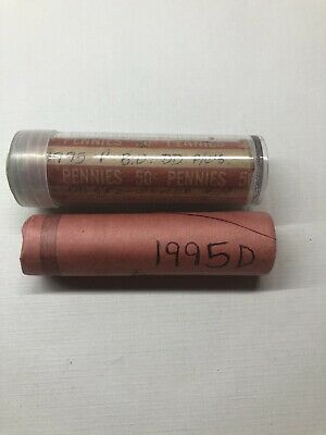 1995 P And D Uncirculated Lincoln Memorial Cent Rolls. BU Pennies